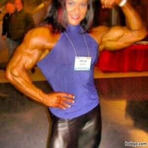 cute girl with strong body and muscle arms pic from linkedin