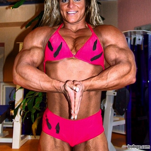 awesome female bodybuilder with muscle body and toned bottom image from facebook