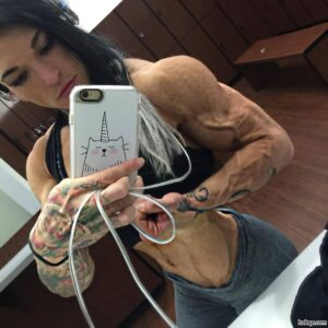 awesome woman with muscular body and muscle bottom post from reddit