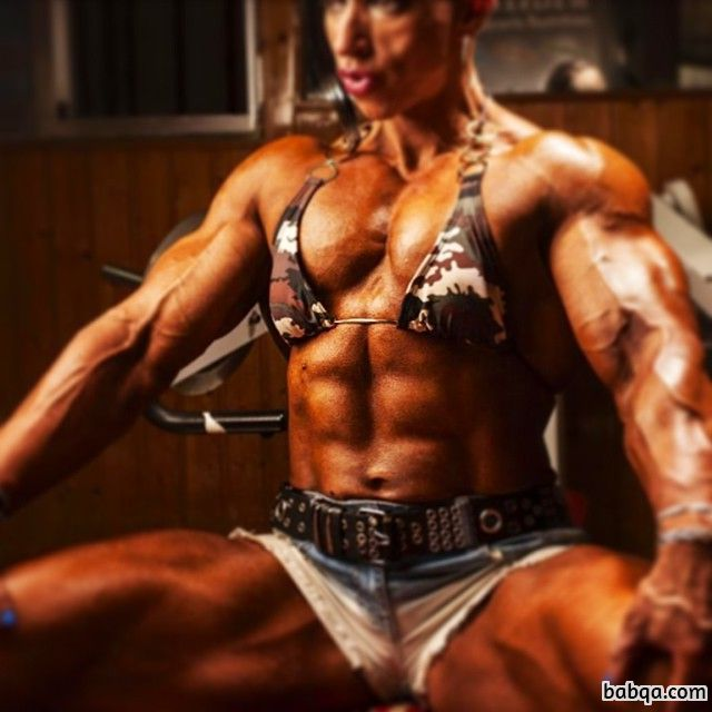 spicy woman with fitness body and toned biceps image from reddit