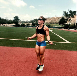 hot girl with strong body and toned legs image from tumblr