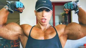perfect woman with fitness body and muscle ass pic from linkedin