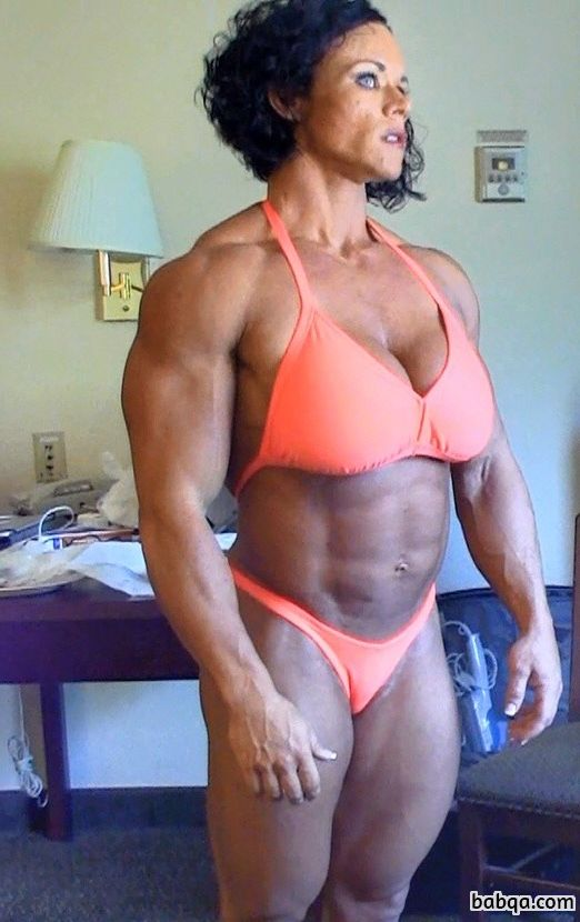 sexy female bodybuilder with fitness body and toned arms pic from tumblr