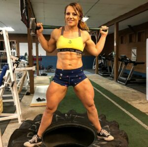 sexy female bodybuilder with muscle body and toned ass photo from facebook