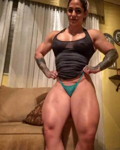 cute female bodybuilder with muscular body and toned booty photo from facebook