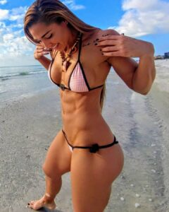 cute chick with strong body and toned legs post from tumblr