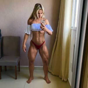 hottest lady with muscle body and muscle arms picture from linkedin