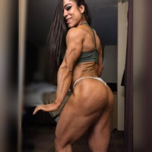 hottest female with strong body and muscle booty repost from facebook