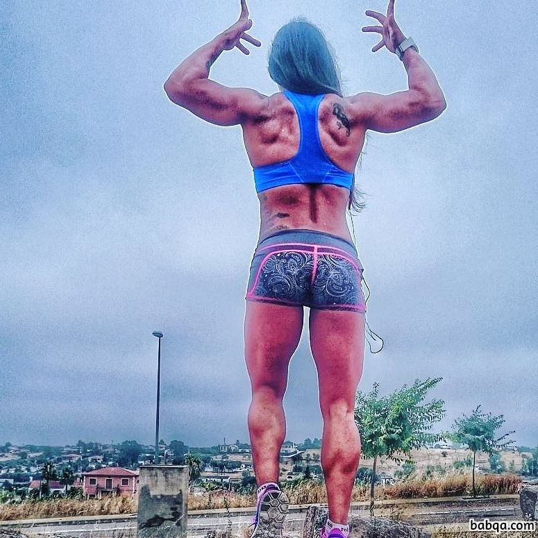 perfect female bodybuilder with muscular body and toned bottom repost from flickr