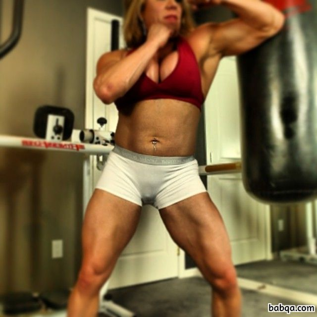 cute female bodybuilder with fitness body and toned legs image from flickr