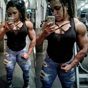 perfect female with fitness body and muscle arms repost from linkedin