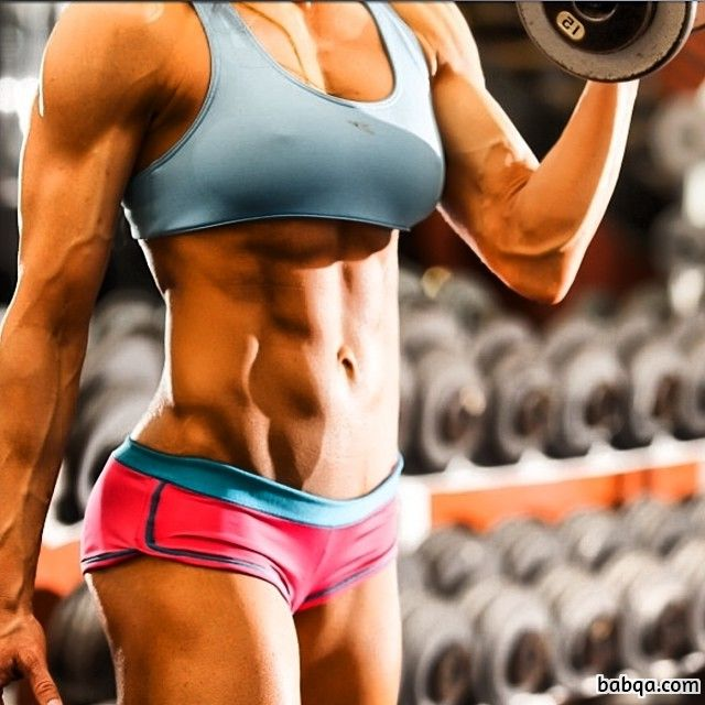 perfect chick with fitness body and toned biceps post from tumblr