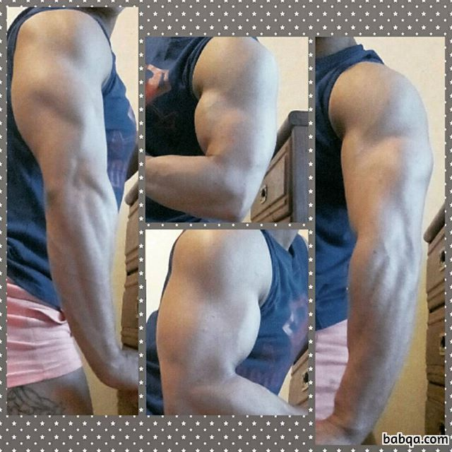 cute babe with fitness body and muscle bottom picture from g+