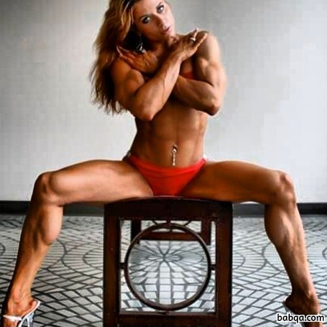 awesome woman with strong body and muscle arms repost from reddit