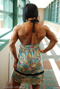cute female bodybuilder with fitness body and muscle arms picture from flickr