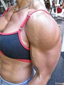 awesome babe with muscular body and toned arms picture from linkedin