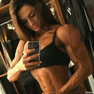 hot female bodybuilder with fitness body and muscle arms repost from flickr