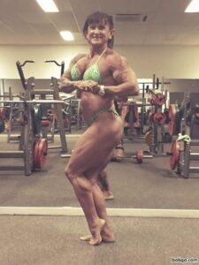 awesome babe with muscle body and muscle biceps picture from tumblr
