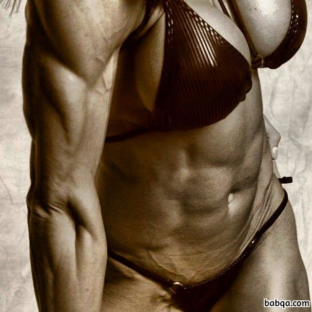 hottest woman with muscular body and muscle biceps picture from flickr