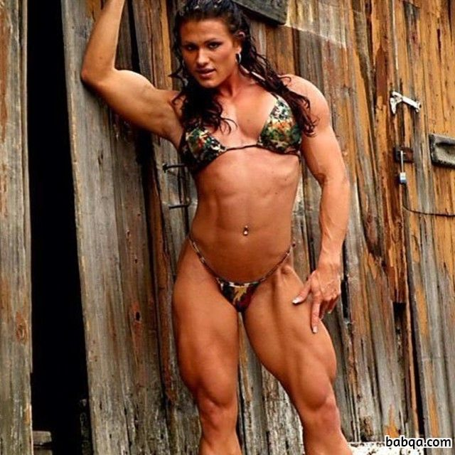 sexy female bodybuilder with muscular body and muscle ass photo from instagram