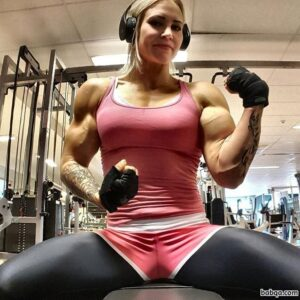 beautiful girl with fitness body and toned arms photo from linkedin