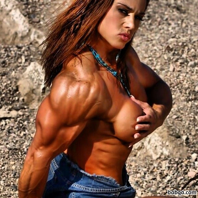 beautiful chick with muscle body and muscle biceps pic from flickr
