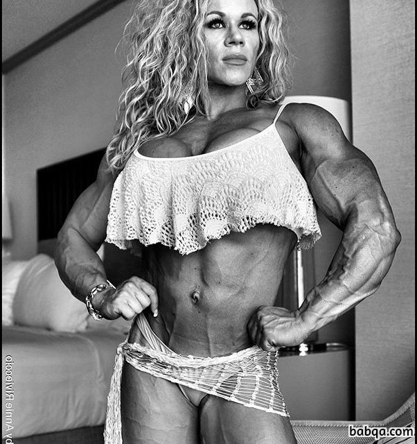 awesome girl with muscular body and muscle arms repost from tumblr