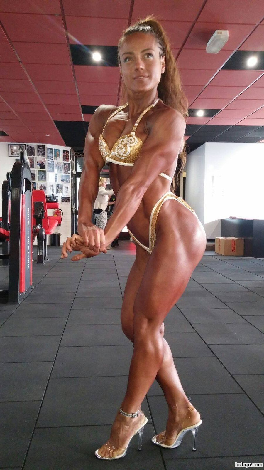 hottest girl with muscle body and toned booty image from reddit