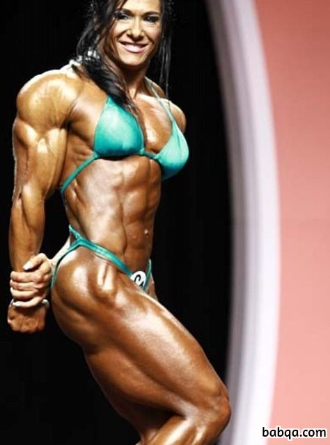 beautiful girl with fitness body and muscle biceps photo from g+