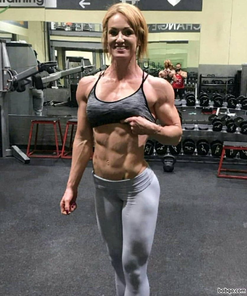 hottest girl with strong body and muscle legs image from insta