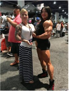 hot chick with muscle body and muscle legs repost from insta