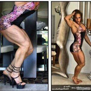 spicy female bodybuilder with muscular body and toned bottom repost from linkedin