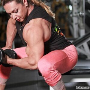 hottest woman with muscular body and muscle arms pic from reddit