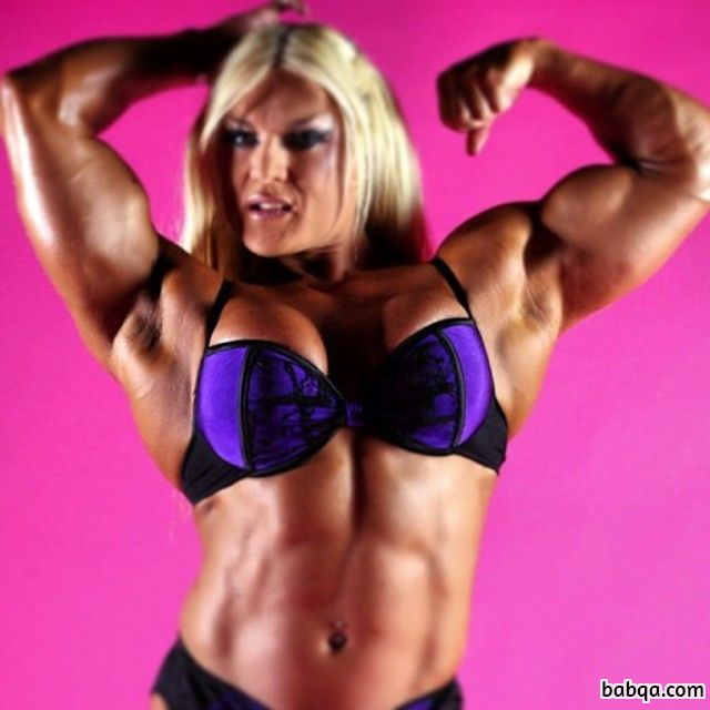 cute female bodybuilder with fitness body and toned bottom image from linkedin