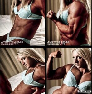 hottest lady with muscular body and muscle arms photo from tumblr