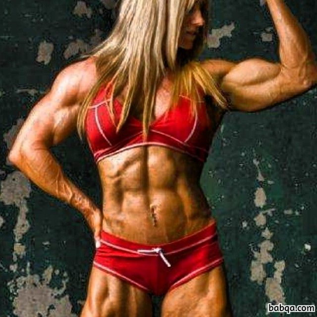 sexy lady with muscle body and muscle arms post from g+
