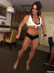 spicy chick with muscle body and toned biceps photo from tumblr
