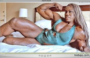 awesome lady with muscle body and toned bottom repost from g+