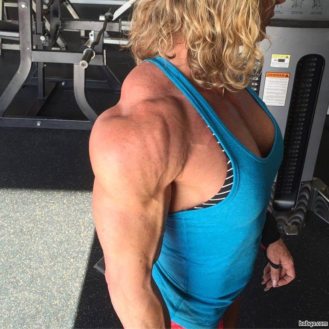 beautiful female bodybuilder with strong body and toned biceps photo from linkedin
