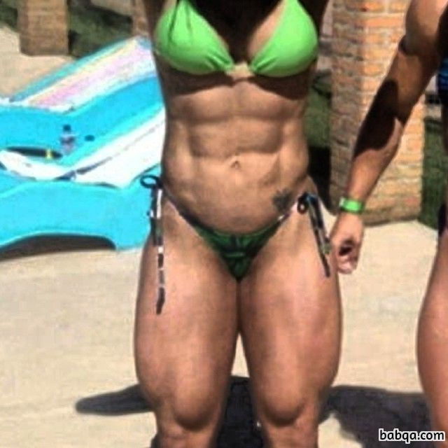 hot girl with fitness body and muscle biceps photo from tumblr