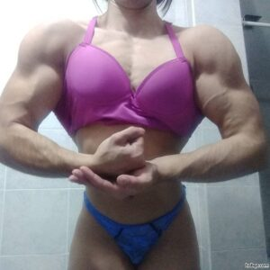 sexy lady with muscle body and muscle ass post from linkedin