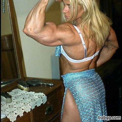 awesome woman with strong body and toned biceps image from facebook