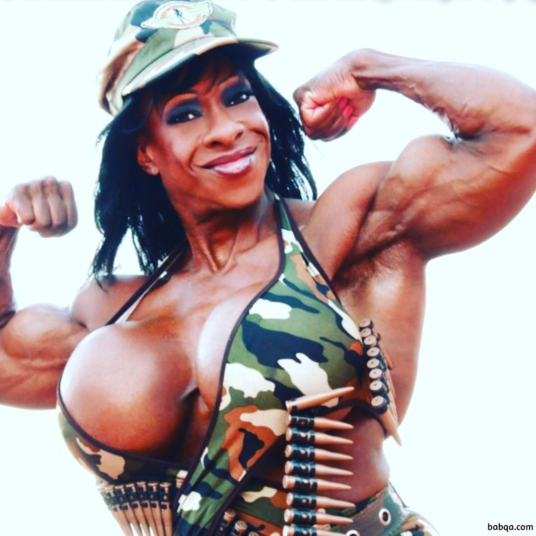 spicy female bodybuilder with fitness body and muscle ass picture from facebook