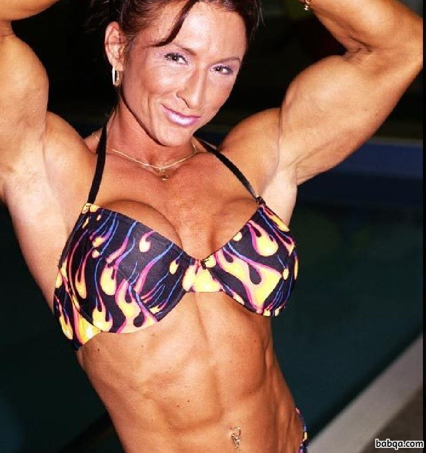 hottest female bodybuilder with strong body and toned bottom picture from linkedin