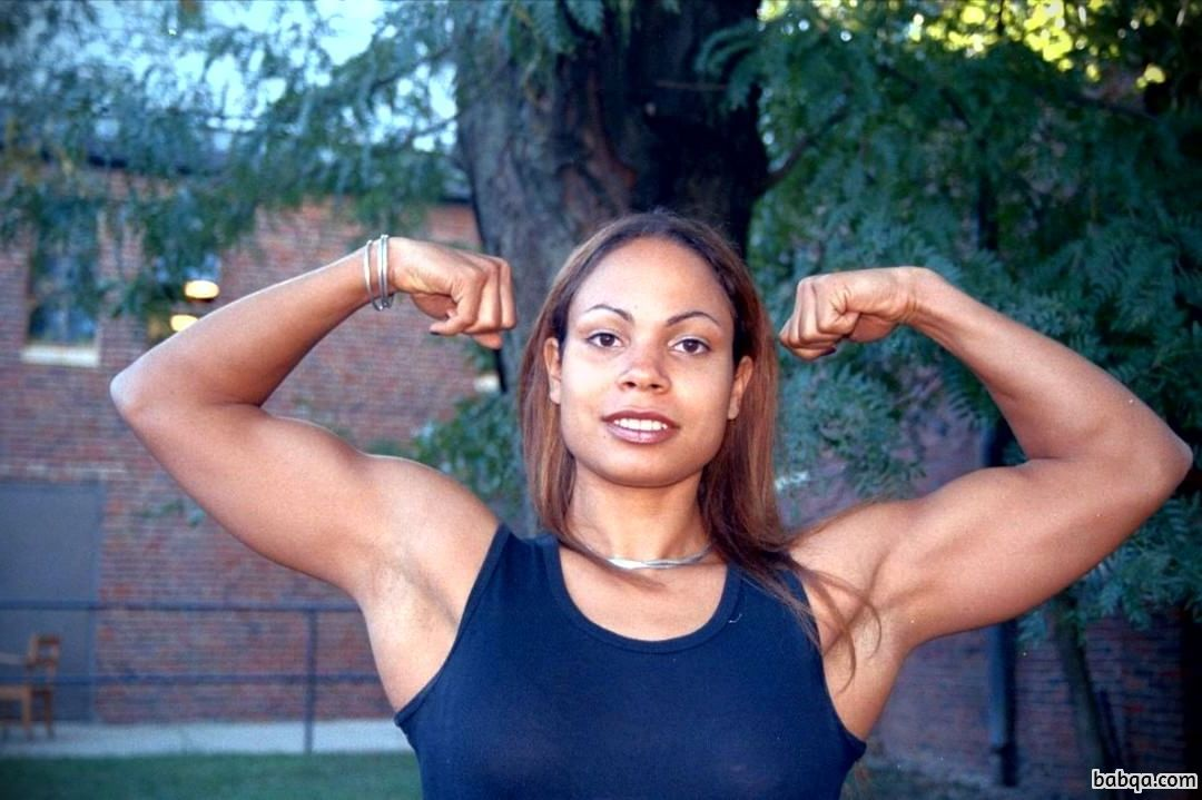 awesome woman with fitness body and muscle bottom photo from flickr