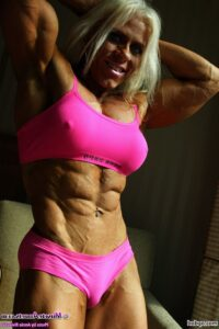cute female bodybuilder with muscular body and muscle bottom post from facebook
