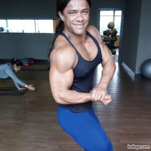 hottest female with muscular body and toned arms post from flickr