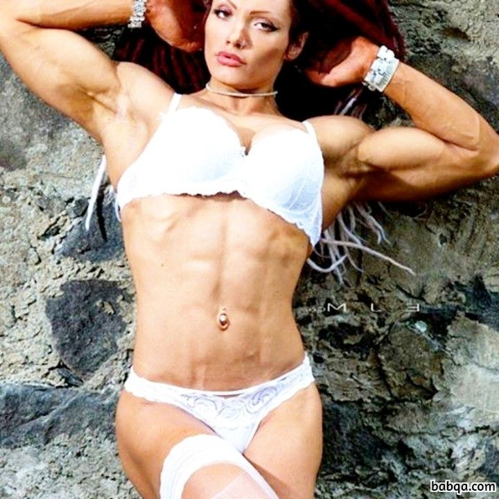 beautiful woman with strong body and toned arms picture from linkedin
