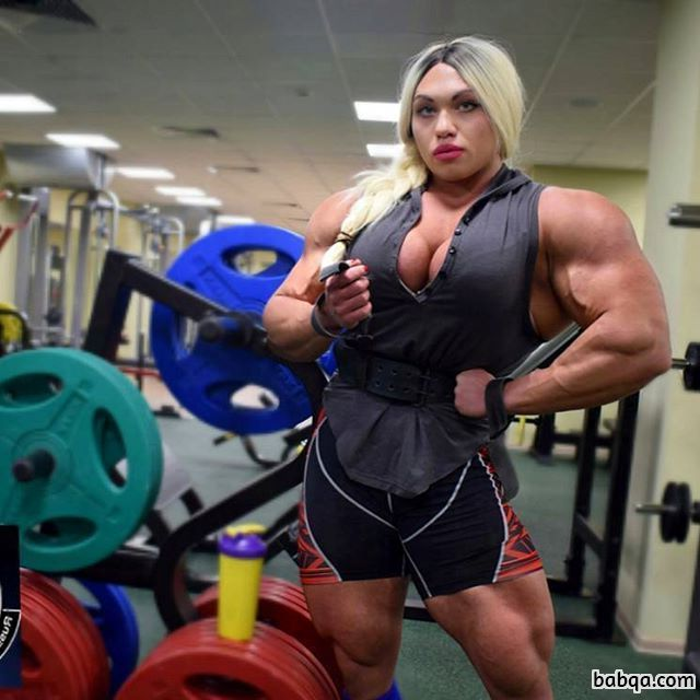 hottest girl with muscular body and muscle arms repost from reddit