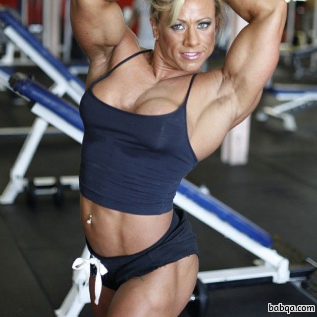 awesome female with fitness body and toned biceps image from tumblr